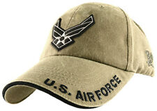 U.S. Air Force Insigna Hat - USAF Khaki Baseball Cap 5643