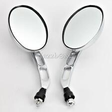 Chrome Rearview Mirrors For Honda Suzuki Kawasaki Motorcycle Scooter ATV 10mm