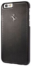 Genuine Ferrari Perforated Rear Case Cover for Apple iPhone 6 6S Black 4.7""