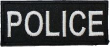 Police Badge Embroidered Patch Velcro 9cm x 4cm