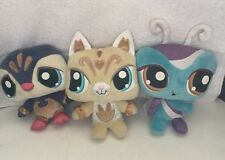 Lot Of 3 Littlest Pet Shop Plush Sassiest Penguin, & Kitty ,wackiest Butterfly
