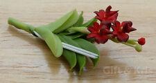 Clay Dollhouse Miniature Handmade Rhynchostylis Gigantea Orchid Flower - 002