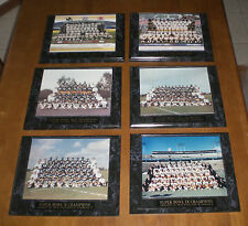 6 PITTSBURGH STEELERS SUPER BOWL TEAMS PHOTO PLAQUES 1975 1976 1979 1980 2006