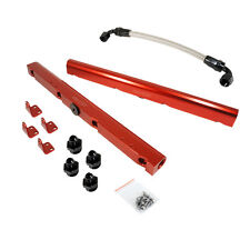 CBM-VP00106-RED-6AN-KIT BILLET LS2, LS3 STYLE FUEL RAIL KIT RED ANODIZED -6AN