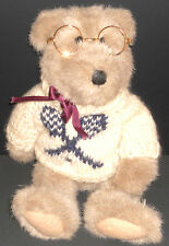 Boyds Collection Bears Plush Teddy Tennis Sweater Wire Glasses1985-94 VG