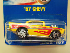 1990 HOT WHEELS BLUE CARD / SPEED POINTS CARD # 157 '57 CHEVY DIECAST