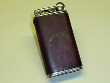 VULCANO POCKET WICK LIFTARM LIGHTER WITH LEATHER COAT- FEUERZEUG - 1930 - FRANCE