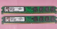 4GB KINGSTON 2 x 2GB KVR800D2N5/2G Desktop RAM PC2-6400 DDR2 800MHz Low-Profile