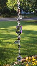 Swarovski Element Purple Crystal Suncatcher W/Glass Crystal Lavender Ball USA