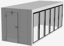 NEW Walk In Cooler 16'x8'x8' 6 Glass Doors & all Refrigeration - can Customize