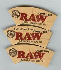 3 PACKS RAW NATURAL ROLLING PAPER CONE TIPS Fit 78mm,79mm,110mm and King Size