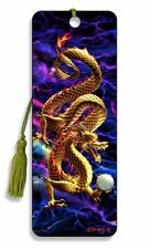 3D Bookmark - Golden Dragon