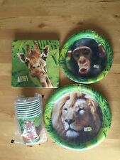 Animal Planet Birthday Party Supplies 16 Plates Napkins 8 Cups Lion Tiger Chimp