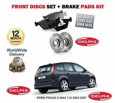 FOR FORD FOCUS C MAX 1.6i 2003-2007 NEW FRONT BRAKE DISCS SET + DISC PADS KIT