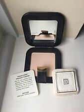Vintage Revlon Translucent Pressed Powder Compact - Navy Faux Leather