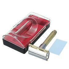 1pcs Men's Portable Safety Handheld Manual Shaver + Double Edge Razor Blade New