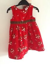 Original Gap red velvet baby girls dress sz12-18 retro vintage gorgeous