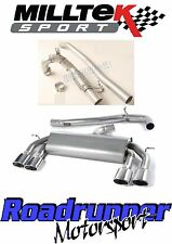 "Milltek Golf R MK7 Turbo Back Race Exhaust 3"" Non Res Non Valved & De-Cat Polish"