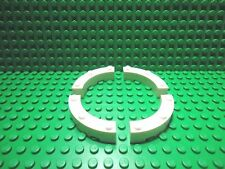 Lego 4 White quarter round 4x4 curved brick block castle wall