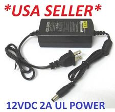 12V 2A AC/DC Power Supply Adapter  Monitor CCTV CCD Security Camera Newest USA