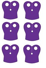 6 x (Pack of 6) Purple Pauldron Capes for Lego Star Wars Minifigs NEW