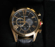 Technos Watch OS20HX/2P Classic Black Leather Band Collectors Edition