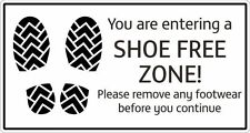 No Shoes No Footwear Shoe Free Zone Sticker Decal Graphic Vinyl Label