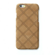 "Zenus Vintage Quilt Genuine Leather Cover Bar Case for Apple iPhone 6S 6 (4.7"")"