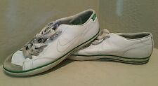 Nike low skate trashed 2006 leather white green flat shoes size us 9.5 EUR 43