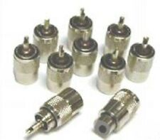 10 X conector PL259 Uhf tapones para RG8X Mini - 8 Cable Coaxial