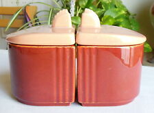 Franciscan China El Patio Toastmaster Jam Jelly Set Redwood Coral