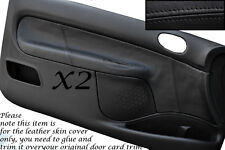 BLACK STITCH FITS PEUGEOT 206 CC & 3 DOOR 98-10 2X DOOR CARD LEATHER COVERS ONLY