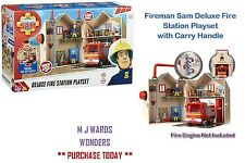 Fireman Sam Deluxe Fire Station Playset with Carry Handle ** GREAT GIFT **