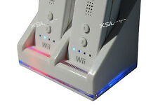 Dual Twin Charging Dock Station for Nintendo Wii Remote + 2 Rechagable Batteries