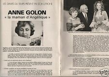 Coupure de presse Clipping 1978 Anne Golon maman d'Angélique (3 pages)