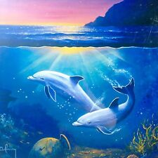 Night of the Comet Glow In The Dark Jigsaw Puzzle 1000 Piece Dolphins Ocean Sea