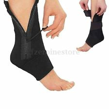 Zip UP Compression Support Sport Elastic Protective Ankle Brace Foot Socks Gym