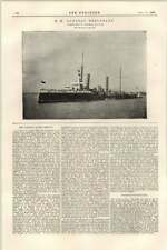 1899 Hm Gunboat Sheldrake Constructed Chatham Piercing Of Simplon Tunnel