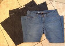LOT OF 2 MOSSIMO JEANS SIZE 15 ANKLE DENIM LEGGINGS  &  LOW RISE BOOT CUT