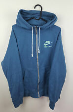 VTG RETRO MENS NIKE BLUE SPORTS ATHLETIC ZIP UP TRACKSUIT TOP JACKET VGC UK XL