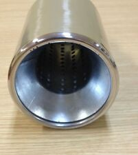 """UNIVERSAL FIT ROUND 4""""STAINLESS EXHAUST MUFFLER TIP PIPE RESONATED MT-556"""