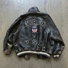 AVIREX USA Varsity  Leather Jacket Rare VINTAGE!!!