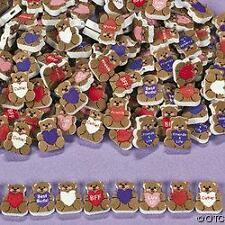 40 Valentine Day Teddy Bear Foam Beads Heart Kids Craft