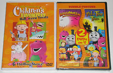 Kid DVD Lot - Bob the Builder Barney Thomas Angelina Ballerina Halloween (New)