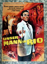 UNSER MANN IN RIO * Vallone, Lee - A1-FILMPOSTER EA -German 1-Sheet 1966
