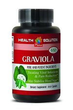 GRAVIOLA Pills - Natural Blood Sugar Support. Antioxidant Anti Aging (1 Bottle)