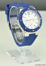 NWT Ladies Watch GUESS Blue Rubber New W90084L3 USA