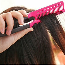 Fashion V Type Hair Straightener Comb DIY Salon Hairdressing Styling Tool New