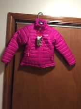 NEW! $110 THE NORTH FACE GIRLS MOSSBUD SWIRL REVERSIBLE JACKET SZ XS 6 PINK