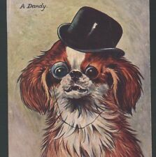 "LOUIS WAIN..""A DANDY"" CAVALIER KING CHARLES SPANIEL DOG,MONOCLE,FRENCH POSTCARD"